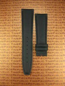 New 20mm Black Leather Strap TOILE Fabric Kevlar Watch Band IWC PILOT Portuguese $35.00