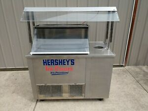 Hershey s Ice Cream Cart Ice Cream Dipping Cabinet W Scoop Basin faucet