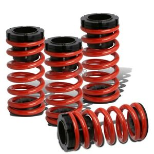 Lowering Suspension Adjustable Coilover Red Coil Springs For 03 08 Corolla E130