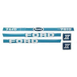 New Ford Hood Decal Set Light Blue white 7610