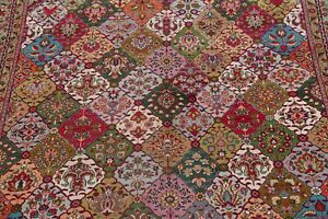 Breathtaking Garden Design Color Full Vintage Area Rug Hand Knotted Wool 10 X13