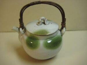 Vintage Japanese Pottery Teapot Signed 8 Tall 10 Widest Rare