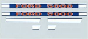 Tractor Hood Decal Set Kit F504hb For Ford New Holland 5000 1968