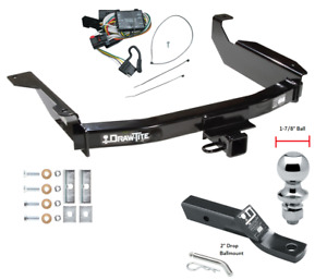 Trailer Tow Hitch For 98 03 Dodge Durango Complete Package W Wiring 1 7 8 Ball