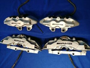 Mercedes W220 S55 Cl55 Amg Front And Rear Brake Caliper Calipers Set Brembo Oem