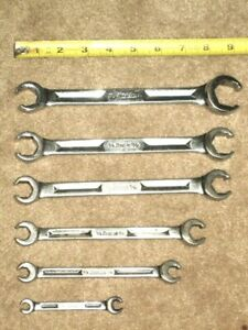 Vintage Snap on Snap On Rxh 6 point Sae Double End Flare Nut Wrench Set 1 4 1
