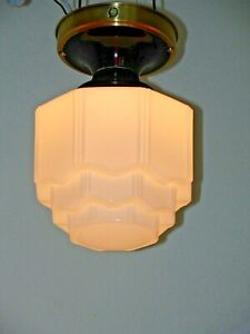 Antique Art Deco Celling Light Hall Bed Kitchen Sky Scraper Shade No 1 Of 2
