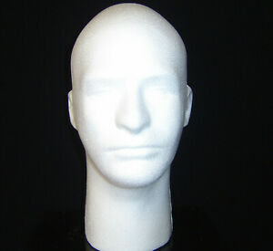 Six 6 6258x Usa Quality12 h Male Mannequin Head Forms white polly Products