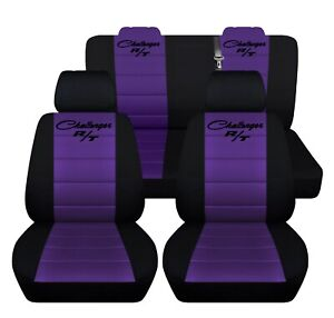 Car Seat Covers 2014 Dodge Challenger Front Rear Black Purple Personalized Seat