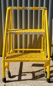 3 Step Utility Rolling Step Ladder Double Work Platform local Pickup Only