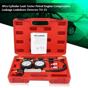4pcs Cylinder Leak Tester Gasoline Engine Compression Leakage Detector Accessory