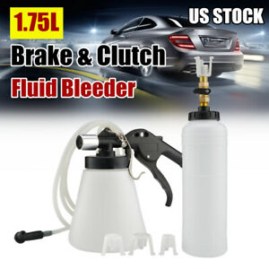 1 75l Air Brake Bleeder Kit Pneumatic Clutch Vacuum Hydraulic Fluid Fill Bottle