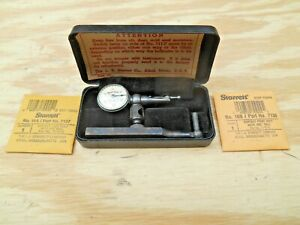 Starrett 711f Dial Indicator 001 With 2 New Contact Points