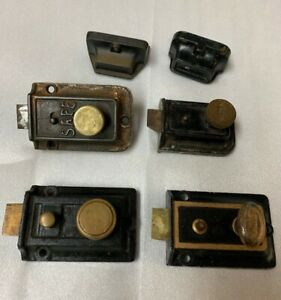Lot Of 4 Antique Vintage Deadbolt Door Locks Safe Eagle Yale