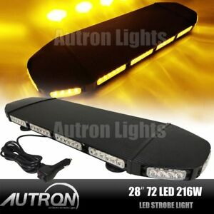 28 Led Amber Warn Emergency Flash Tow plow Truck Wrecker Roof Strobe Light Bar