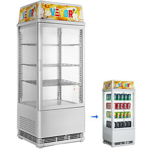 2 75 Cu ft Commercial Beverage Refrigerator 78l Glass Countertop Led Display