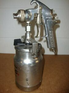 Devilbiss Jga 510 57 Hvlp Paint Spray Gun W Canister Very Nice Condition