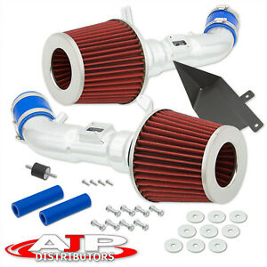 Twin Air Induction Intake Kit System For 2009 Nissan 370z Nismo Z34 V6 3 7l