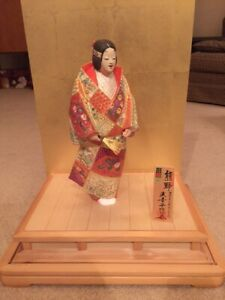 12 Hakata Ningy Doll Themed After Noh Performance Yuya