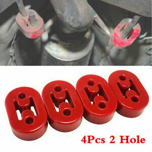 Universal Epdm Rubber Muffler Exhaust Hanger 4pcs Red 11 5mm New