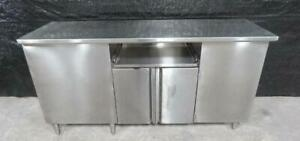 72 X 22 X 37 Stainless Steel Cabinet Counter Top Table Local Pickup Only