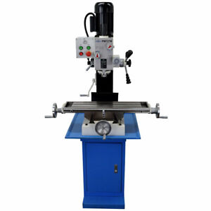 Pm 727m Vertical Bench Top Milling Machine With Stand Geared Head Free Shipping