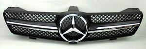 1 Fin Front Hood Sport Black Chrome Grill For Mercedes Cls W219 05 08