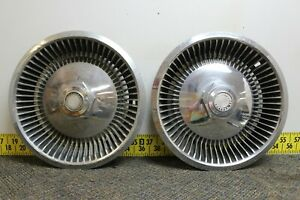 Oem Set Of 2 15 Hub Caps Wheel Covers 397c 1979 Chrysler Dodge Plymouth 2489