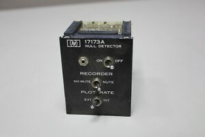 Hp Hewlett Packard Null Detector Model 17173a