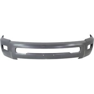 New Gray Steel Bumper Face Bar For 2010 2018 Ram 2500 3500 Hd W Fog