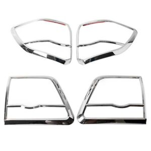 Chrome Cover Tail Light Trims Fit For Toyota Fortuner 2012 14