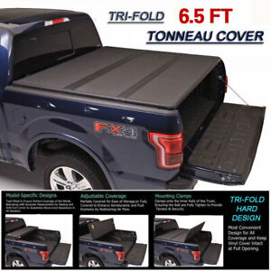 Aluminum Tonneau Cover Rugged Folding For Chevy Gmc 6 5ft Pickup Bed Fleetside