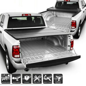 Upper Alloy Tonneau Cover Rugged Tri fold 5 8ft For Chevy Gmc 1500 2500 3500 Hd