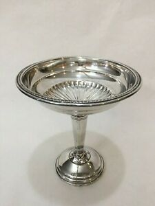 Vintage National Silver Co Weighted Sterling Silver Compote 5 3 4 T X 5 Dia