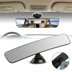 Universal Car Truck Suction Stick Rearview Mirror Flat Interior Rear View Mirror