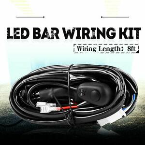 Led Light Bar Wiring Harness Kit 2 Lead 12v 40amp 300w Fuse Relay On Off 4wd Atv