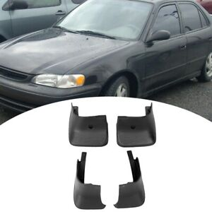 4pcs Front Rear Guards Mudguards Mud Flaps Fenders Fit For 98 02 Toyota Corolla
