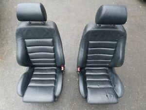 Audi B5 S4 A4 Black Leather Sport Front Seats 96 01 Left Right Pair Recaro Oem