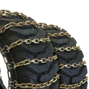 Titan Alloy Square Tractor Tire Chains 2 Link Space Ice Snow Mud 10mm 10 16 5