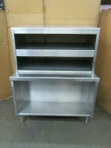 Food Service 52 X 34 1 4 Stainless Restaurant Serving Counter Slanted Warmers