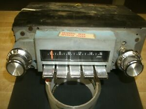 1970 Working Pontiac Catalina Oem Delco Am Radio With Fader