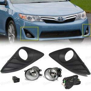 Oem Fog Lights Lamp Cover Switch Kit New For Toyota Camry 2012 2013 2014