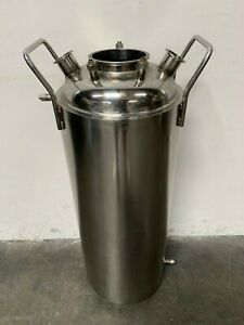 Xtractor Depot Jacketed Stainless steel 316l Pressure Vessel 12 x36