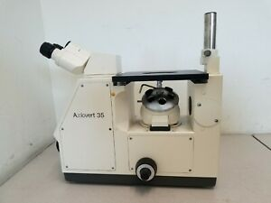 Zeiss Axiovert 35 Inverted Phase Contract Microscope No Objectives