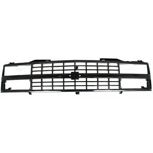 Grille For 88 93 Chevrolet C1500 K1500 Black Plastic
