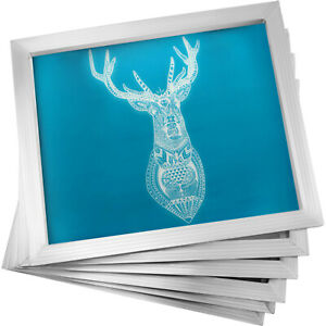 6 Pack 16 x20 Aluminum Frame Silk Screen Printing Screens With 110 Mesh
