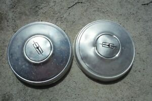 1970 Oldsmobile Dog Dish Wheel Cover Hub Caps 10 7 Set Of Two Lot