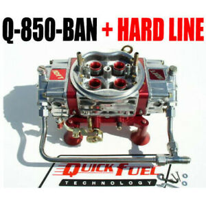 Quick Fuel Q 850 Ban Annular Mech Blow Through With Stainless Hard Line Kit