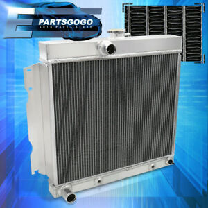 For 65 69 Dodge Charger Dart 4 5l 7 2l 273 V8 3 Row Tri Core Aluminum Radiator