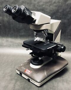 Nikon Labophot 2 Microscope With 3 Objectives Great Condition